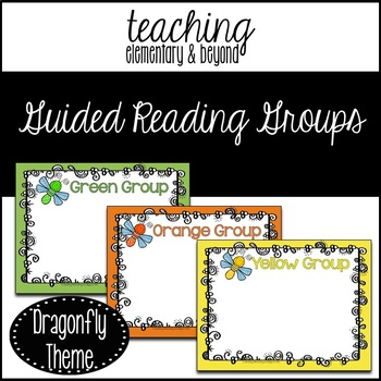 Guided Reading Group Posters: Dragonfly Theme