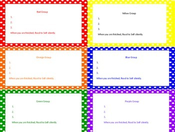 Guided Reading Groups Daily Tasks Powerpoint
