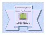 Guided Reading Groups Lesson Plan Templates DRA Levels 1-4