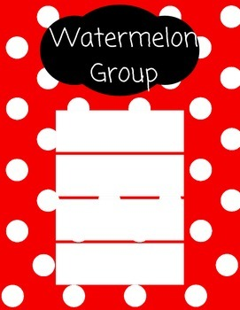 Guided Reading Groups (Polka Dot)