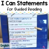 Guided Reading I can statements