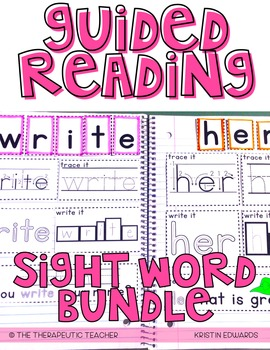Guided Reading Interactive Journal // Part 2: Sight Words