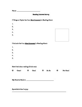Guided Reading Interest Survey