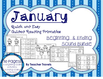 Guided Reading: January Printables, Beginning and Ending S