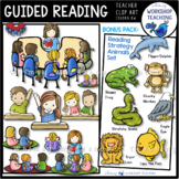 Guided Reading Kids Clip Art Bundle (Whimsy Workshop Teaching)