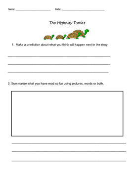 Guided Reading Lesson-Highway Turtles