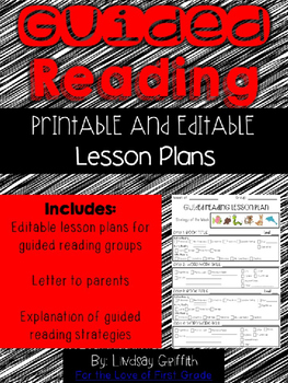 Guided Reading Lesson Plan Pack