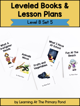 Guided Reading Level B - Add On Lesson Plans and Books Pack