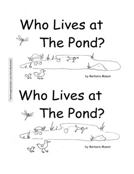 Guided Reading Level D Book: Who Lives at the Pond? w C.Co