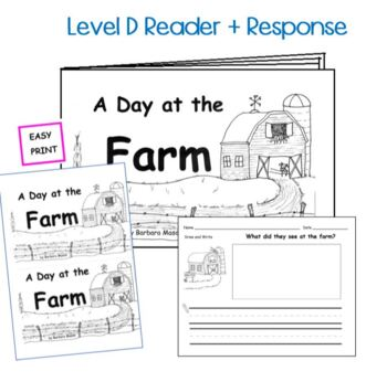 Guided Reading Level D Emergent Printable Book and Lesson