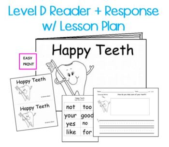 Guided Reading Level D Non Fiction Printable Book w/ Lesso