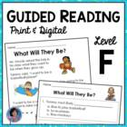 Guided Reading Level F: Reading Comprehension Passages with Text-Based Questions