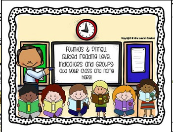 Second Grade Guided Reading Level Indicators and Groupings