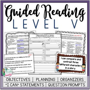 Guided Reading Lesson Plans Level V