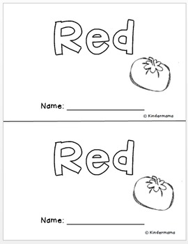 Color Book: Guided Reading Leveled Sight Word Book 3: Red