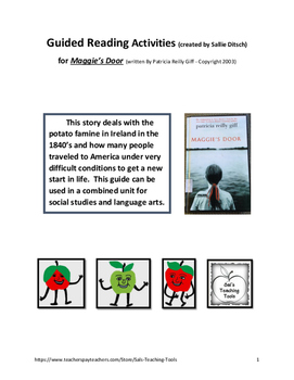 Guided Reading Activities for Maggie's Door, a book by Pat