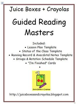 Guided Reading Masters: Templates for Planning and Data Co