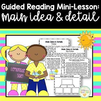 Guided Reading Mini-Lesson: Main Idea & Details (3rd/4th/5