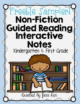 Guided Reading NON-FICTION Interactive Notes: FREEBIE! K-1