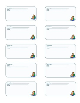 Guided Reading Note Labels