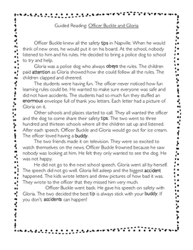 Guided Reading: Officer Buckle and Gloria