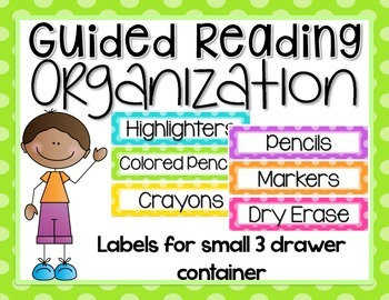 Guided Reading Organization EDITABLE {Labels for Small 3 D