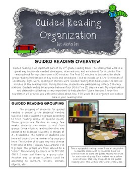 Guided Reading Organization, Lesson Plan Template and Sche