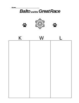 Guided Reading Packet - Balto and the Great Race (Elizabet
