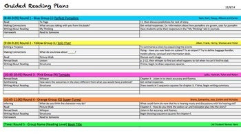 Guided Reading Planning Spreadsheet (editable)