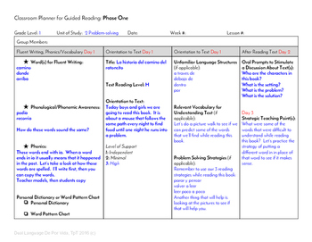 Guided Reading Plus Plan for Mondo La historia del camino