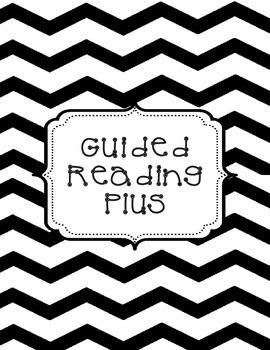 Guided Reading Plus - Teacher Binder - Black and White Chevron