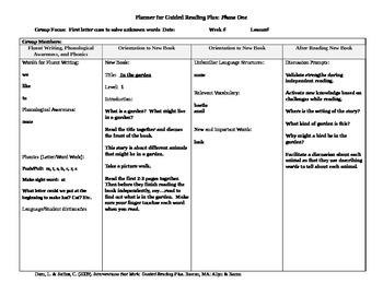 Guided Reading Plus lesson plans for Rigby PM Plus Level 1 books
