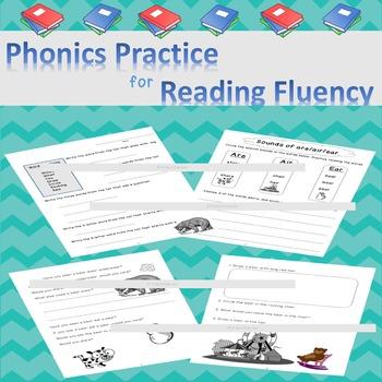 Vowel Teams Reading Fluency Activities Printables