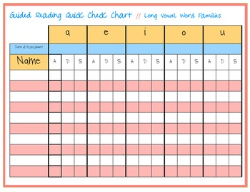 Guided Reading Quick Check Chart