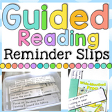 #ausbts17 Guided Reading Reminder Slips
