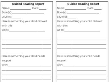 Guided Reading Report