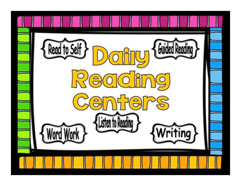 Guided Reading Rotation Editable Powerpoint Bright Stripes