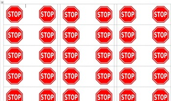 Guided Reading Stop Sign Labels