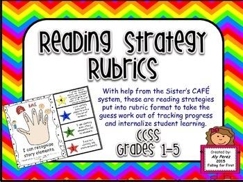 Guided Reading Strategies Rubrics CCSS Grades 1-5