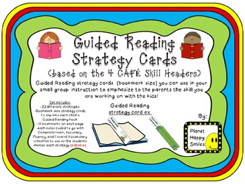 Guided Reading/CAFE Strategy Cards (bookmarks)