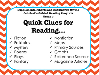 Guided Reading Supplemental Charts and Bookmarks