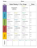 Guided Reading Weekly Planning Guide