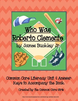 Guided Reading: Who was Roberto Clemente- Common Core, No