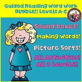 Guided Reading Word Work BUNDLE  for Kids Reading on Levels A-C