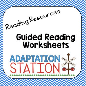 Guided Reading Worksheet Pack