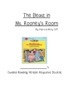 Guided Reading compBooklet for The Beast in Ms. Rooney's R