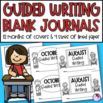 Guided Writing Blank Booklets for Twelve Months of Writing