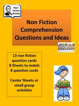 Guided or Center  Reading Questions and Graphic Organizers