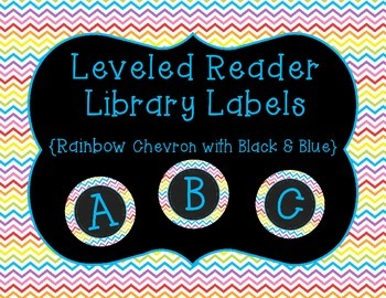 Guided/Leveled Reading Library Labels {Rainbow Chevron wit