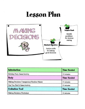 Guidelines For Making Decisions Lesson